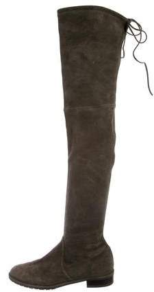 Stuart Weitzman Round-Toe Over-The-Knee Boots