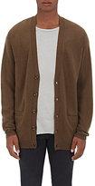 NSF Men's Wool-Cashmere Oversized Cardigan-DARK GREEN