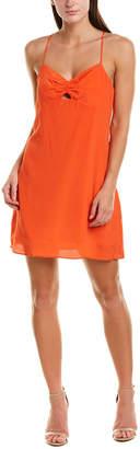 Lavender Brown Racerback Silk-Blend Mini Dress