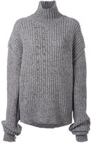 Damir Doma ribbed roll neck oversized jumper