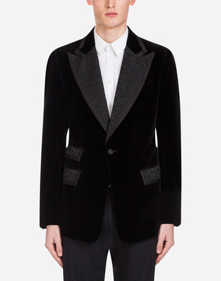 Dolce & Gabbana Casino Tuxedo Jacket In Velvet