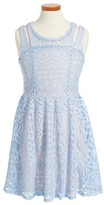 Hannah Banana Girl's Lace Overlay Dress
