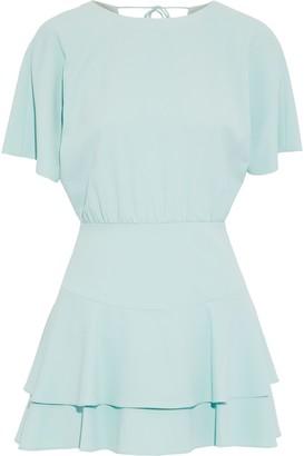 Alice + Olivia Palmira Tiered Crepe Mini Dress