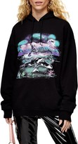 Topshop Mystic Whale Graphic Hoodie