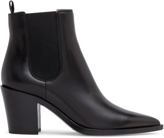 Gianvito Rossi Romney 70 black leather pointed boots