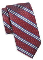 Saks Fifth Avenue Striped & Spotted Silk Tie
