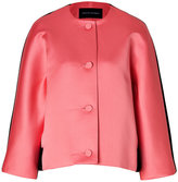 Jonathan Saunders Satin/Wool Felt Jacket in Pink/Black