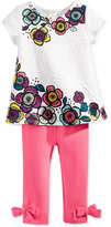 First Impressions 2-Pc. Flower Tunic & Bow-Detail Leggings Set, Baby Girls, Only at Macy's