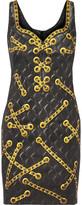Moschino Printed Cotton-blend Mini Dress - Black