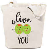 The Cotton And Canvas Company The Cotton and Canvas Company Totebags Natural - Natural 'Olive You' Tote