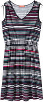 Joe Fresh Women's Print V-Neck Dress, Light Navy (Size XS)