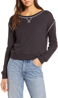 Sundown by Splendid Waffle Knit Sweatshirt