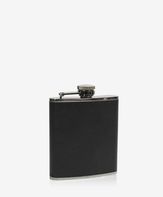 GiGi New York 6 oz Flask, Black Traditional Leather