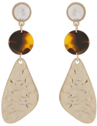 Miss Shop Molten Geo Drop Earrings