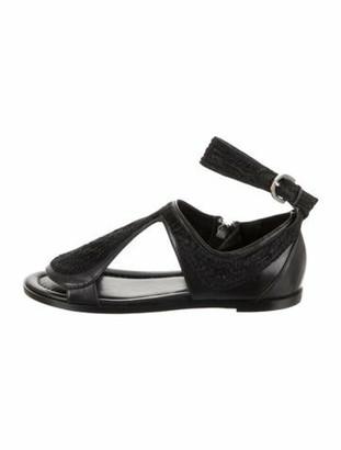 Camilla Skovgaard Leather Tongue Sandals w/ Tags Black