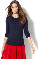 New York & Co. Waverly Crewneck Sweater - Lurex