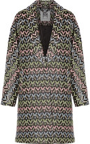 Milly Lola Metallic Brocade-Cloqué Coat