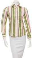 Etro Striped Long Sleeve Button-Up Top