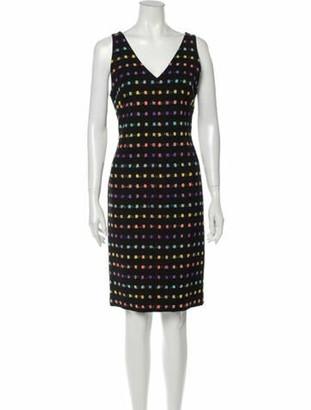 Diane von Furstenberg Printed Knee-Length Dress Black