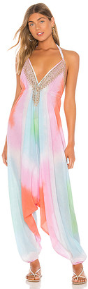 Juliet Dunn Diamond Tie Dye Jumpsuit