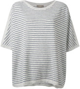 N.Peal cashmere oversized stripe T-shirt - women - Cashmere - M