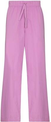 Tekla Drawstring Waist Pajama Trousers