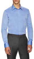 Armani Collezioni Cotton Solid Dress Shirt