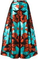 DELPOZO cropped palazzo pants - women - Polyester/Silk/Metallized Polyester/Cotton - 40