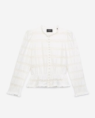The Kooples Ecru lace top with elastic waist