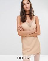 Missguided Lace Trim Cami Slip Dress