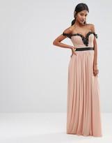 Rare London Floral Top Maxi Dress