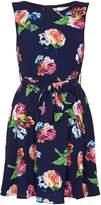 Yumi Navy Rose Printed Dress
