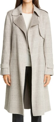 Theory Oaklane Glen Plaid Coat