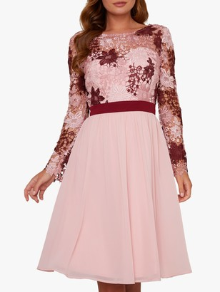 Chi Chi London Sutton Floral Dress, Pink/Multi
