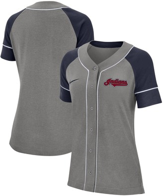 Nike Women's Gray Cleveland Indians Classic Baseball Jersey