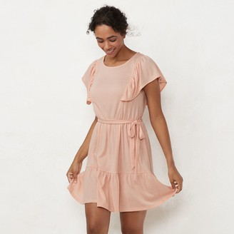 Lauren Conrad Women's Ruffle Fit & Flare Dress