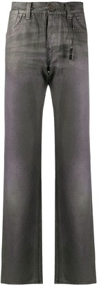 Gianfranco Ferré Pre Owned 1990s Metallic-Effect Straight-Leg Jeans