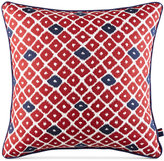 "Tommy Hilfiger Ellis Island Diamond 18"" Square Decorative Pillow"