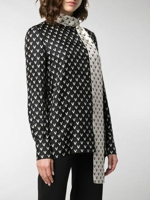 Valentino two-tone VLOGO pussybow blouse