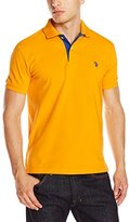 U.S. Polo Assn. Men's Slim-Fit Solid Pique Polo Shirt