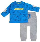 Petit Lem Baby Boys Magic Forest Two-Piece Top and Pants Set