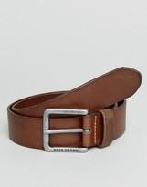 Boss Orange By Hugo Boss Leather Belt Black