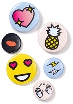 Bing Bang NYC Classic Emoji Pins, Set of 6