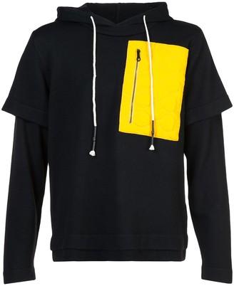 Mostly Heard Rarely Seen Colour-Block Hooded Sweatshirt