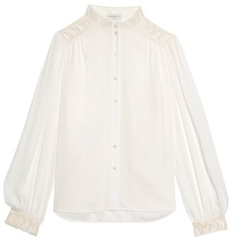 Sandro Galoni Lace-Trim Shirt