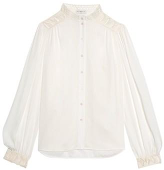 Sandro Galoni Lace-Trim Shirt