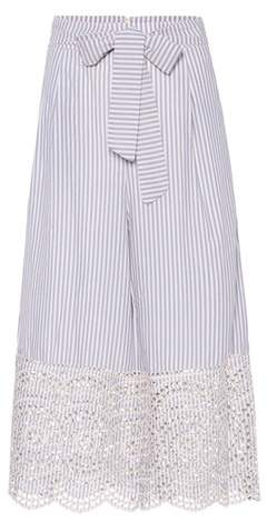Zimmermann Meridian striped cotton culottes