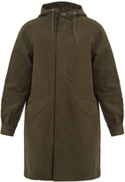 A.P.C. 87 hooded brushed-cotton parka