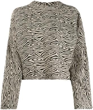 Nanushka Zebra Block Print Top