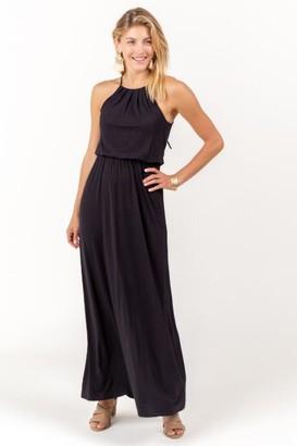 francesca's Flawless Knit Maxi Dress in Black - Black